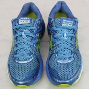 Women's BROOKS GTS Running Shoes Blue Size 10.5 M